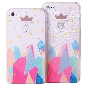 Hueco de la Corona de grano nuevo caso para el iPhone 5/5S