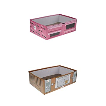 perfk 2X Rascador de Gato Animal Doméstico Caja de Papel Corrugado Almohadillas Rascado para Descansar: Amazon.es: Deportes y aire libre