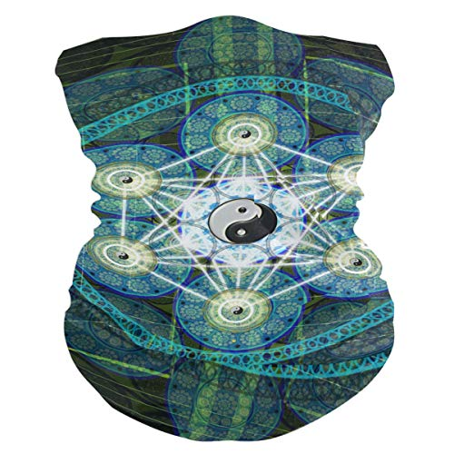SLHFPX Sacred Geometry Headband WoBandana Balaclava,Neck Warmer,Face Mask,Collars -
