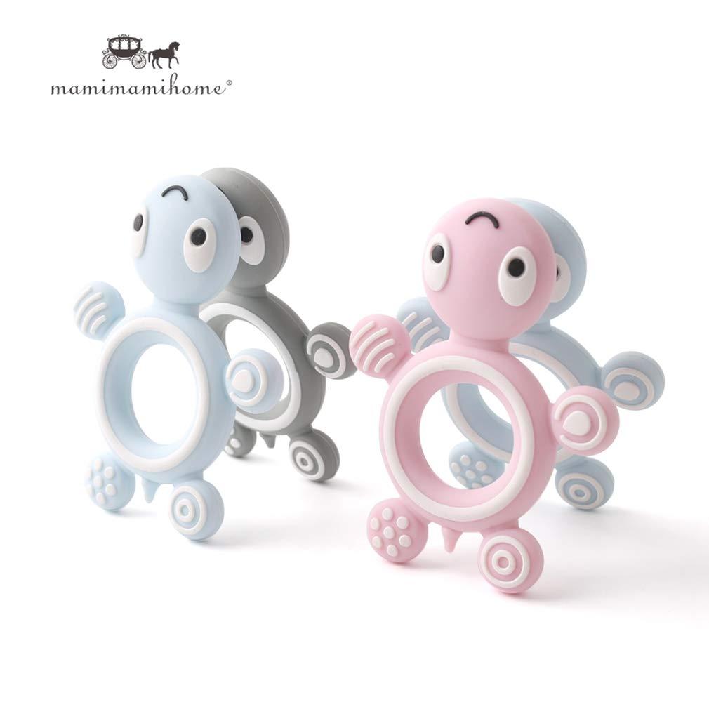 Mamimami Home 5pc Silikon Einhorn DIY Krankenpflege Halskette Baby Armband Teether Anhänger Baby Silikon Zubehör Baby-Duschen-Geschenk