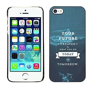 ROKK CASES / Apple Iphone 5 / 5S / YOUR FUTURE - LIFE WISDOM / Slim Black Plastic Case Cover Shell Armor