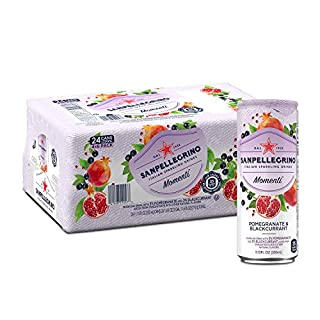 Sanpellegrino Momenti Pomegranate & Blackcurrant Cans, 11.15 Fl Oz (24 Pack)