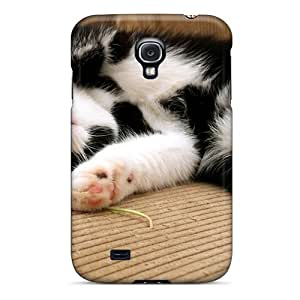 New Style Case Cover YGW7530szRx Black White Kitten Compatible With Galaxy S4 Protection Case