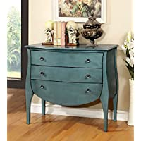 Furniture of America CM-AC139BL Havre Blue 3 Drawer Chest, Large
