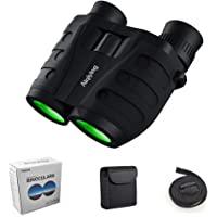 12x25 Compact Pocket Folding Binoculars for Adults Kids, Low Light Night Vision High Powered Lightweight Waterproof HD Professional Mini Binocular Telescope for Outdoor Hunting, Bird Watching, Hiking (12x25 Binoculars)
