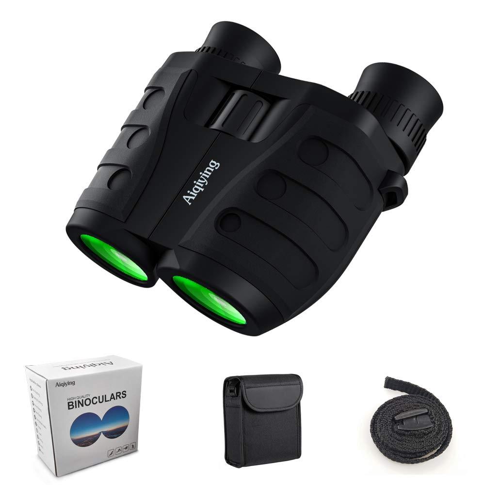 12x25 Compact Folding Binoculars for Adults Kids, Low Light Night Vision High Powered Lightweight Waterproof HD Professional Mini Binocular for Outdoor Hunting, Bird Watching, Hiking, Concerts