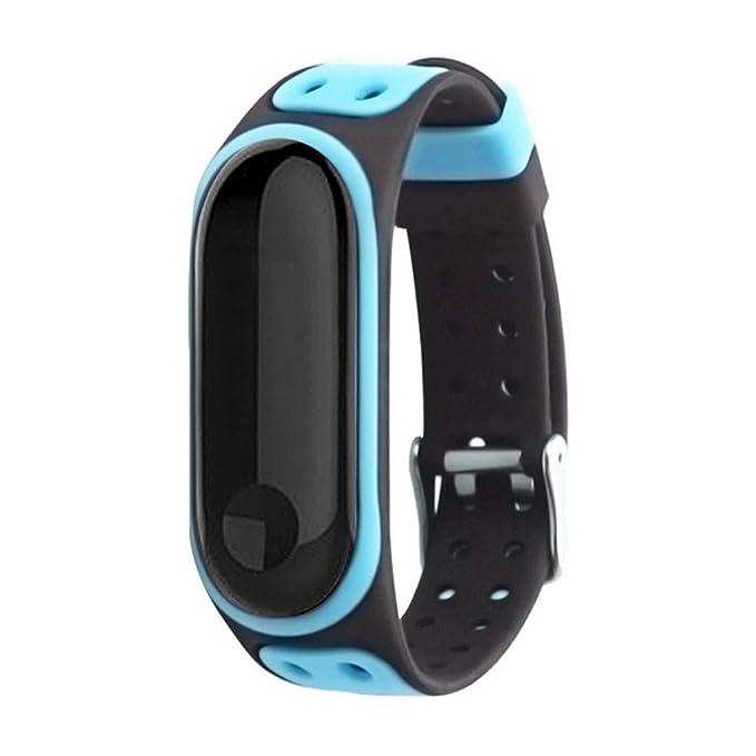 Geilisungren Funda Completa para Xiaomi Mi Band 3 Correa de Banda de Pulsera de Silicona Smartwatch