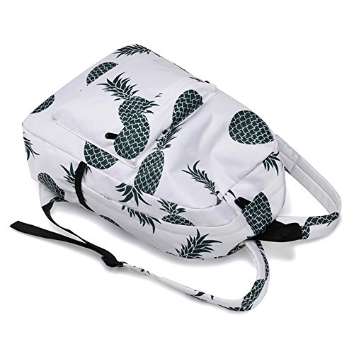 men A bags school Female girls Pineapple sale Spring for handbags Fresh Travel black Print ladies large Backpacks waterproof leather on Women Ůʽ shoulder women Style Backpack small Bookbags boys AYw7Zf