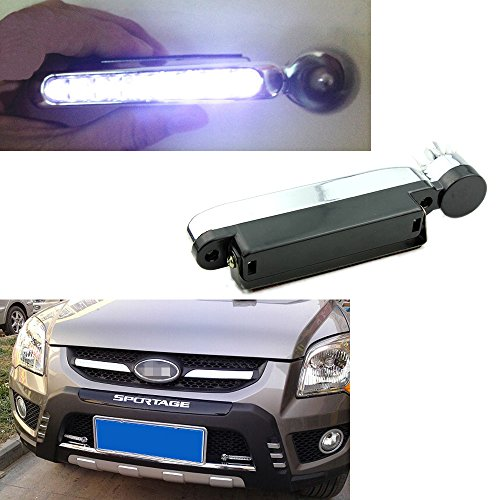 - Eaglerich 1 Pair 8 LEDs Wind Powered Automobile DRL Daytime Running Light Fog Auto Head Lamp 12V