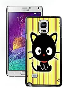 Hot Sale Samsung Galaxy Note 4 Case ,Unique And Lovely Designed Chococat! Cover Case For Samsung Galaxy Note 4 Black Phone Case CR-119
