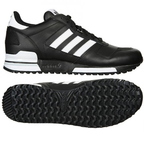 b51b9c668 Adidas Originals Men s ZX 700 Comp Black White Leather Running Retro Casual  Shoes Trainers (UK 10)  Amazon.co.uk  Shoes   Bags
