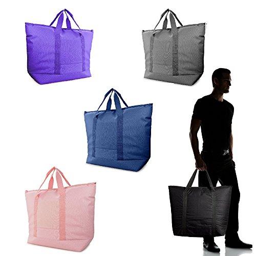 DALIX 25″ Large Cooler Tote Bag w/ Zipper Leakproof Bottom Stitching (Pink, Navy, Grey, Purple, Black) – DiZiSports Store