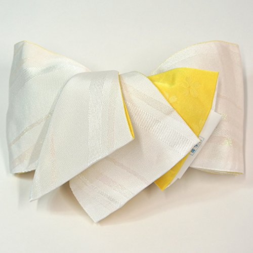 宇宙飛行士間接的縞模様の半幅帯 【人気白地】???????? 浴衣 小袋帯 半巾帯 【????】 ???????100% hob11182