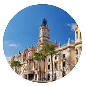 alfombrilla de ratón Paisaje urbano lugares históricos de Valencia - ciudad de España. - ronda - 20cm