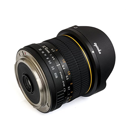 Opteka 6.5mm F/3.5 HD Aspherical Fisheye Lens & Removable