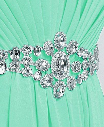 Lang Mint Schulterfrei Brautjungfernkleides Abendkleider Damen Crystal Fanciest aWwqfnPOxF