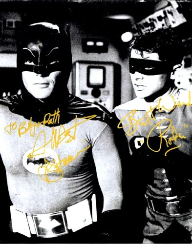 The Original Batman & Robin with Adam West & Burt Ward Signed Autographed 8 X 10 Reprint Photo - Mint Condition