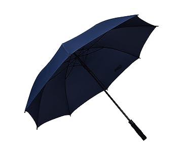 ZHDC® Paraguas de gran tamaño, mango largo Hombres Commerce Straight Shank Windproof Rain Sombrilla