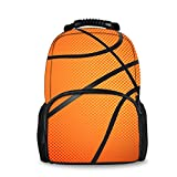 Coloranimal Personalized Large Shoulder Backpacks Basketball Printed Children School Bags Travel Daypacks