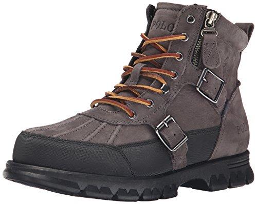 Polo Ralph Lauren Men's Demond Boot, Dark Grey, 7 D - Ralph Men's Polo Boots Lauren