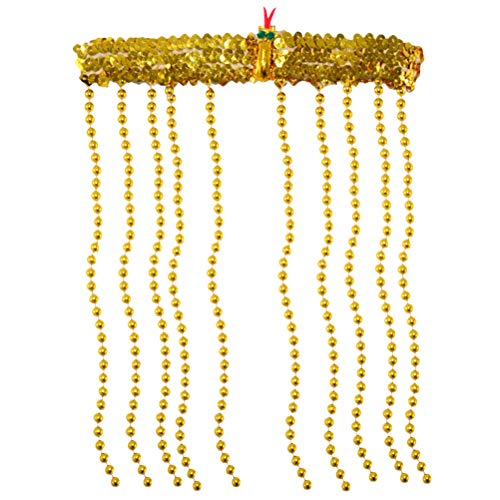 Amosfun Novelties Women's Egyptian Costume Accessory Snake Beaded Headpiece]()