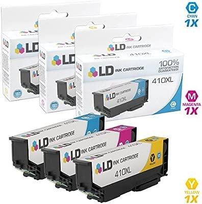 LD© REMANUFACTURADO Epson 410/410 X L/T410 - Juego de 3 ...