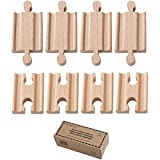 Orbrium Toys Male-Male Female-Female Wooden Train Track Adapters Fits Thomas Brio Chuggington, Pack of 8