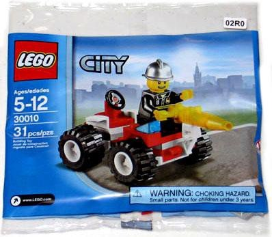 LEGO City Exclusive Mini Figure Set #30010 Fire Chief (Lego City Mini Figure)