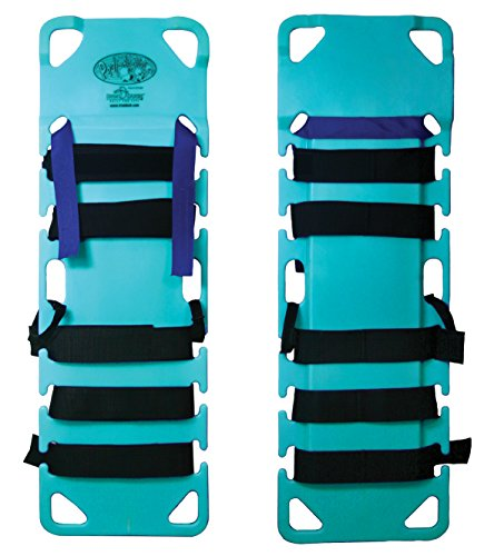 Iron Duck 35840-XL-Teal Pedi-Air-Align Complete XL Pediatric Spinal Immobilization Backboard with Patented Dual Plane Head Drop System, Includes Straps, Head Blocks and Carry Case