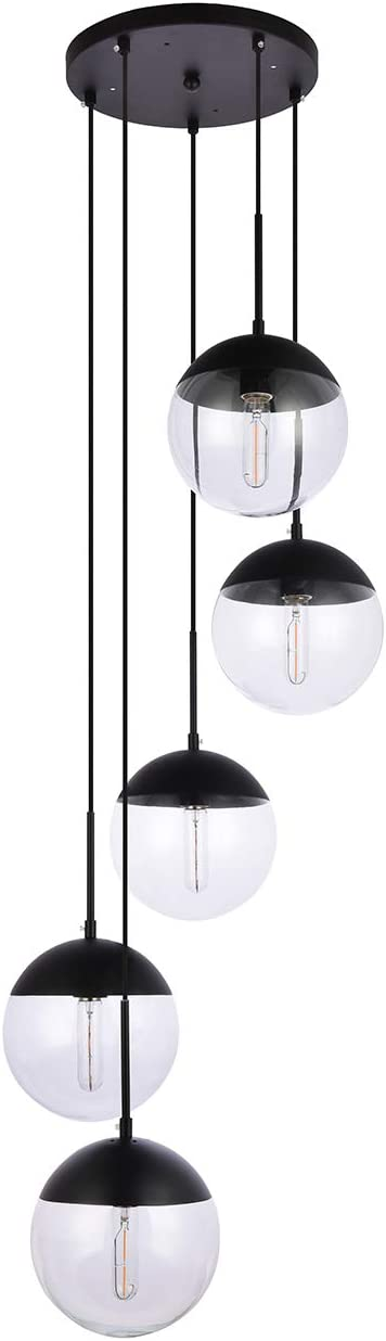 A1A9 5-Light Sphere Glass Chandelier Ceiling Light
