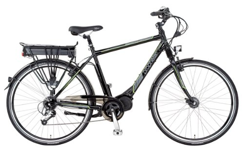 Prophete Herren E-Bike Alu-Trekking 28 Zoll E-Novation Mittelmotor Licensed By Jd, Glanzschwarz, Rahmenhöhe: 52.0 cm, Reifengröße: 28 Zoll (71 cm), 51054