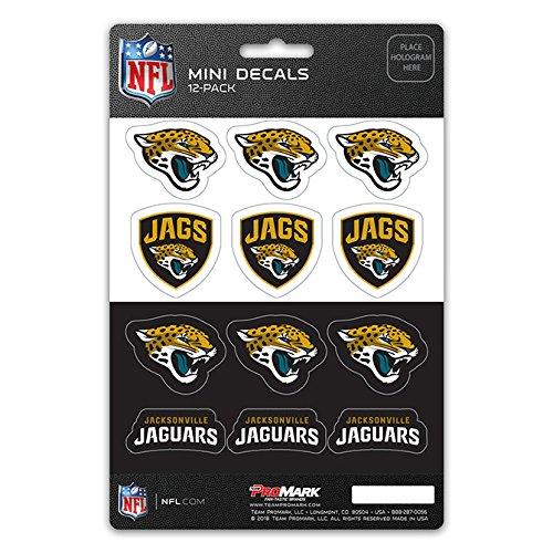 ProMark NFL Jacksonville Jaguars DecalDecal Set Mini 12 Pack, Team Colors, One Size