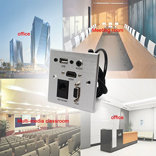 Multimedia information panel outlet, multifunctional socket (usb,hdmi,audio,vga,net port) Wall Multi-media plug for Home Furnishing, hotel, office, by WSTD (Image #5)