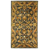 Kitchen Rugs At Wayfair Safavieh Antiquities Collection AT52C Handmade Traditional Oriental Blue and Gold Wool Area Rug (2' x 3')