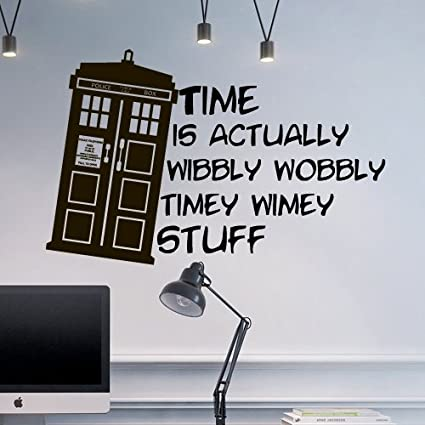Amazoncom Wall Decal Doctor Who Tardis Quote Time Travels Mural