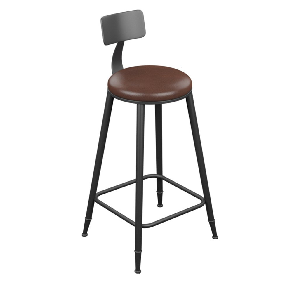 404094cm Bar Stool - Vintage Leather Wrought Iron Bar Stool Bar Simple Stool (Multiple (Size   40  40  71cm)