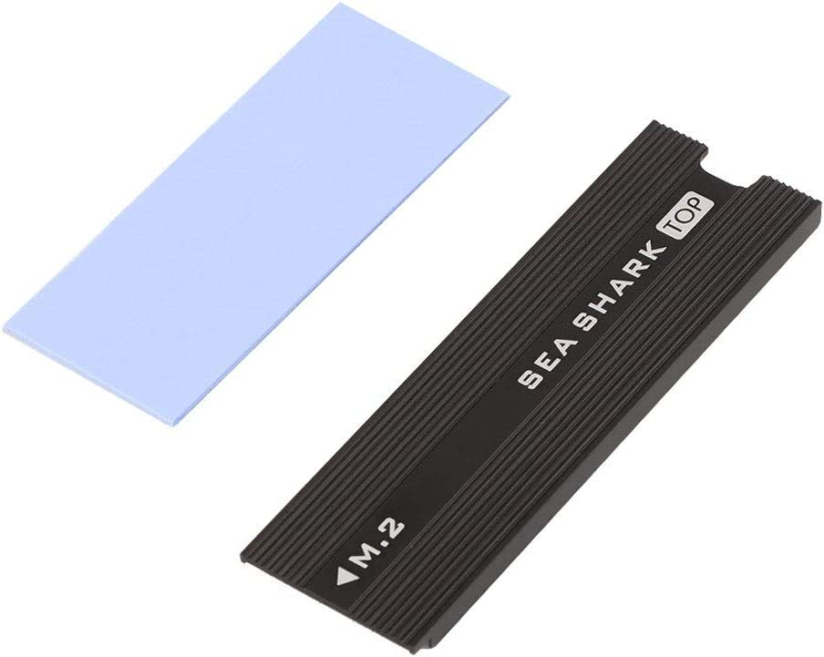 icepc-DIY Heat Dissipation Aluminum Strip with Silicone Pads for Laptop HeatSink Vest Cooling Armor for M.2 NGFF Nvme SSD SEASHARK, red