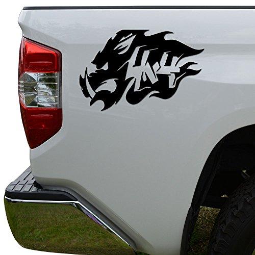 hog hunting window decals - 7