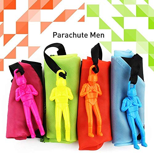 Parachute Toys - 8 Pcs Parachute Army Men + 8 Pcs Parachute Tangle Free Throwing Parachute with Launcher Flying Toys Soldier Skydiver Hand Throw Sports & Outdoor Play Toys for Kids Gifts Party Favor by Dreamfun (Image #5)