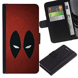 Protector de cuero de la PU de la cubierta del estilo de la carpeta del tirón BY RAYDREAMMM - Sony Xperia Z3 Compact - Resumen de araña Superhéroe
