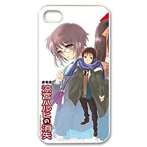Generic hard plastic The Disappearance of Haruhi Suzumiya Anime Cell Phone Case for iPhone 4 4S White B1746