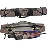 Armor Deluxe Expanding Padded Speargun Bag 73''L X 7''H X 10''W Black/Grey - Holds 2 Complete 73'' guns & Freedive Fins & Mask. Extra Pockets