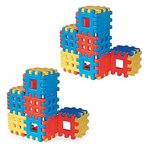 Little Tikes Waffle Blocks - Little Tikes Big Waffle 18 Piece Kids Construction Building Block Set (2 Pack)