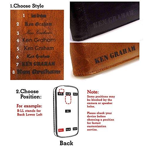Alston Craig Personalisierte Tasche Hülle (z.B Ihr Name, andere Name, Inschrift) Alston Craig Schlank-Shell-Weinlese echtes Leder Formkastenabdeckung für Apple iPhone 6 Plus- Schwarz