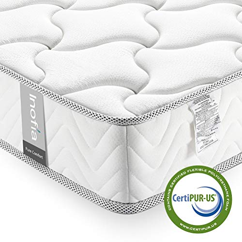 Inofia Twin Mattress, 6 Inch Single Bed Mattress in a Box, Cool Memory Foam, Comfort Body Support, CertiPUR-US Certified, No-Risk 100 Night Trial ()