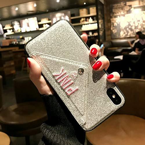 Wallet Pink Glitter Leather Fashion Cute Case iPhone Plus 8 Plus X XS Max - 1 PCs