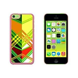 Geometric Green Yellow Red Snap On Hard Protective For Iphone 5C Phone Case Cover - Pink