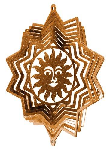 Sun Star Mini Swirly Metal Wind Spinner ゴールド 10507-Gold B00KHZ6WQY ゴールド