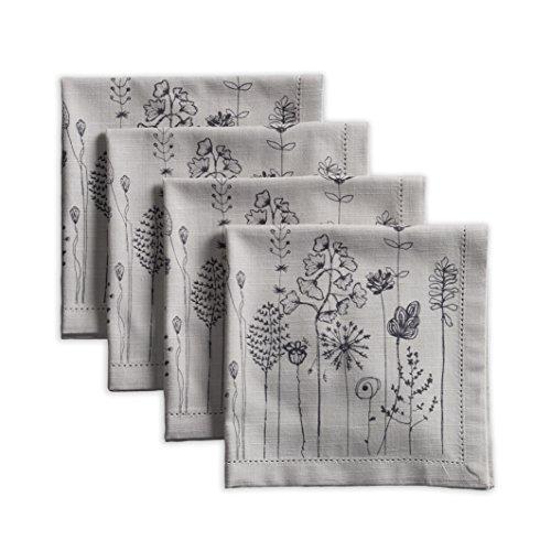 (Maison d' Hermine Flore 100% Cotton Set of 4 Napkins 20 Inch by 20)