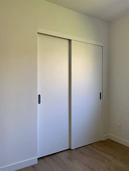 Sliding Bypass Closet Doors 60 X 80 Inches | Planum 0010 White Silk | Rail  Pulls Hardware Set | Wood Solid Doors By Pass     Amazon.com